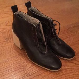 Rachel Comey Ankle Leather Boots with Shearling